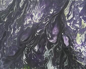 "Original Canvas Acrylic Painting ""Dark Inferno"""