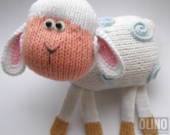 LAMB Knitting Pattern PDF - Knitted lamb pattern Animal toy pattern . Knitting tutorial - How to knit cute toy Lamb