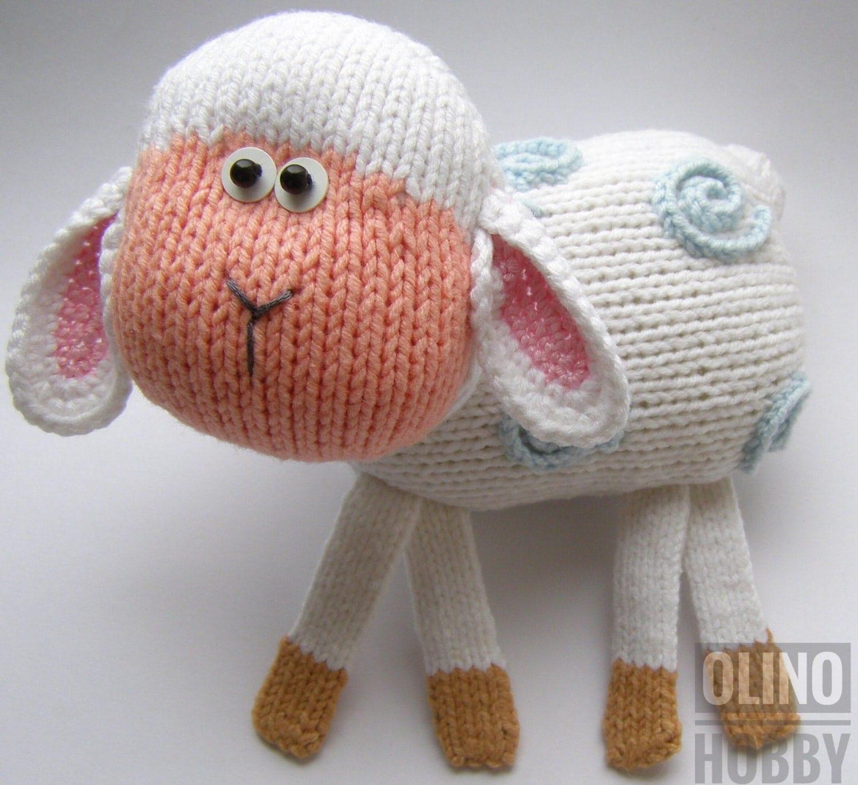 Plymouth Yarns Free Knitting Patterns : LAMB Knitting Pattern PDF Knitted lamb pattern Animal toy