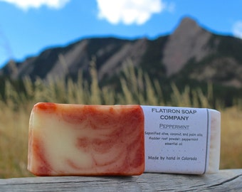 Peppermint - Handmade Soap, Cold Process Soap, All Natural Soap