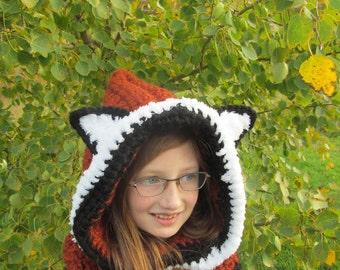 Fox Hoodie Cowl for children
