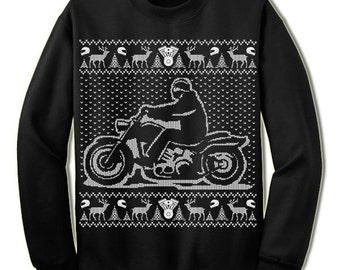 Motorcycle sweater | Etsy