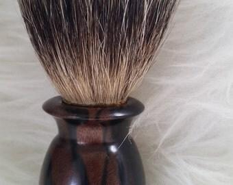 Ebony handled shaving brush