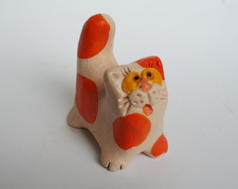 "Ceramic figurine ""Cat"". Souvenir ceramics handmade"
