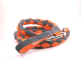 Custom Round Braid Dog Leash With Carabiner
