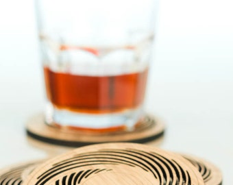 Bamboo Coasters,  set of 4 - Eclipse