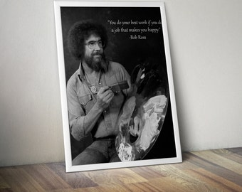 Bob Ross Motivational Poster