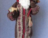 Nonna's Santa Handmade OOAK Doll on etsy - Christmas Santa Claus-