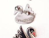 Black Swan Pin Black Swan Jewelry Black Swan Lapel Pin Black Swan Enamel Pin Metal Pin Goth Pins
