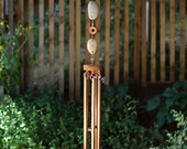 Large Wind Chime Beach Stones with Copper Chimes