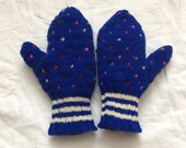 CUSTOM ORDER - Reserved for green1108 - Royal Blue with Candy Sprinkles thrum mitts