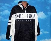 Perry Ellis America Black and White Jacket Medium Vintage 1990s