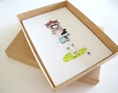 A Box Set of Prints The Entire Crazy Cat Lady Series that is 11 prints all up