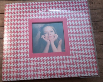 "Premade Pink and White Girly-Girl 8"" x 8"" Scrapbook"