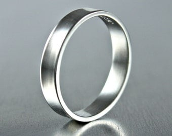 Simple Sterling Silver Ring, Plain Silver Band,