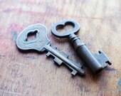 Little Brass Antique Art Deco Keys