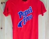 1980s Pepsi Free T-Shirt Small