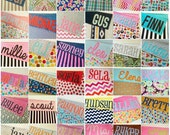 CUSTOM SewSara minky name blanket - made to order - any color/pattern