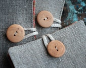 Small Linen Needle Book - Thread button