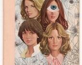 Original Collage on Vintage Bookcover-Romance Novel Divas