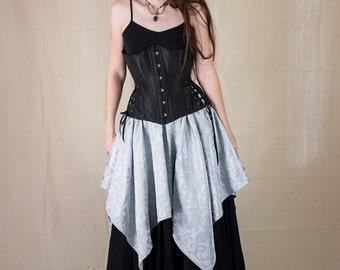 Silver Brocade Pixie Skirt Renaissance Halloween Costume