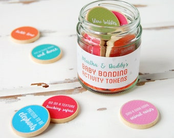 Daddy And Baby Personalised Baby Bonding Activity Tokens Jar. First Father's Day Gift. Fathers Day Gift. Daddy Keepsake. New Dad Gift.
