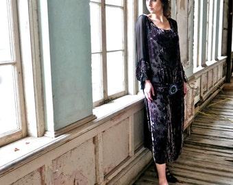 1920s Flapper Dress Medium M Tall