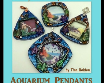 Aquarium Pendants with moving Sand or Beads - Polymer Clay Tutorial - Digital PDF file download