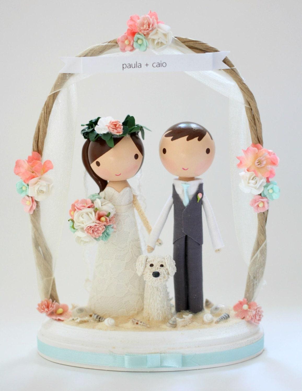 custom wedding cake topper beach arch. Black Bedroom Furniture Sets. Home Design Ideas