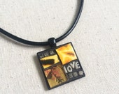 Our Love is Wild Mosaic Art Pendant