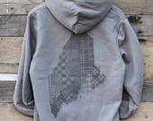 COUNTIES OF MAINE - Zip-Up Hooded Sweatshirt
