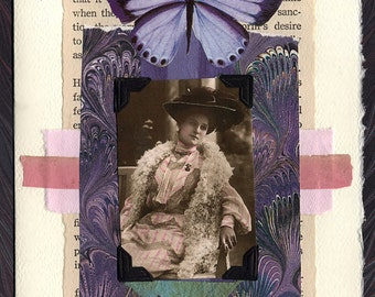 Woman of Mystery Collage Greeting Card