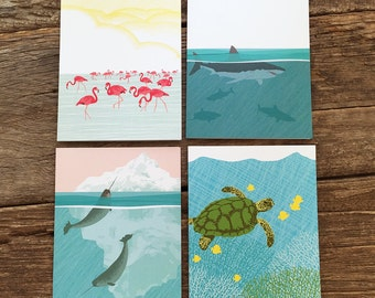 assorted cards / ocean