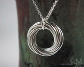 Small Spiral Necklace - Sterling Silver Pendant - Mobius, Love Knot, Lovers Knot - Ready to Ship - 10% loaned through Kiva.org
