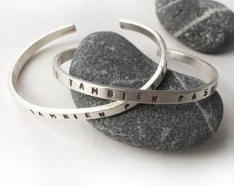 This Too Shall Pass Spanish Stamped Sterling Silver Cuff Bracelet ESTO TAMBIEN PASARA Esto también pasará