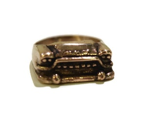 1959 GMC Truck Ring in White or Gold Bronze