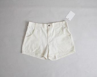 white 70s shorts | vintage 70s boat shorts | white shorts
