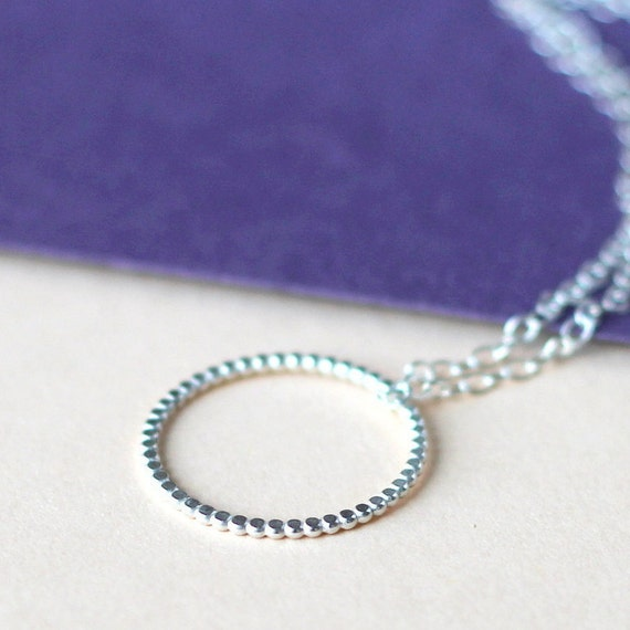 Tiny Dot Necklace - Silver - minimal, handcrafted jewellery