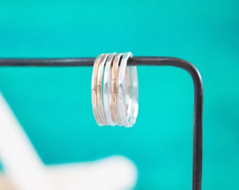 Stacking Ring Set {14k Gold Filled + Sterling Silver}