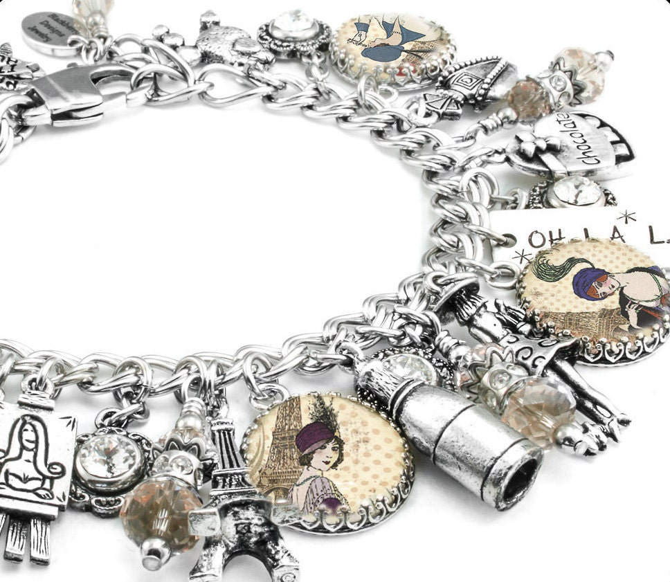Silver Bracelets With Charms: Silver Charm Bracelet Paris Jewelry Paris Bracelet Silver