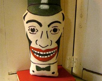 Knock down clown , Vintage inspired circus art, carnival art, Punk doll, Arcade art