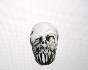 White Zombie Series 3 Zombie Head Pendant
