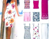 Summer dress tops wrap skirts modern fashion style sewing pattern New Look 6178 Size 8 to 18 Uncut