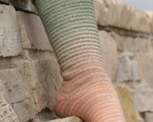 The Shire Gradient Stripes Matching Socks Set, 2-50g Cakes, Greatest of Ease (dyed to order)