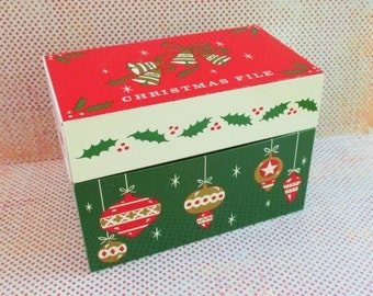 Vintage Ohio Art Tin Christmas File
