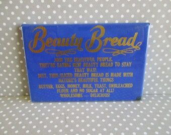 SALE Vintage Advertising Pocket Mirror - Beauty Bread