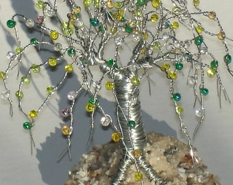 Beaded on Beach, Mini Wire Tree