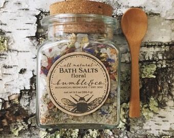Bath Salts | All Natural Sea Salt Bath | Botanical Bath Soak | Himalayan Bathing Salts | Herbal Bath Salts | Relaxing Bath | Floral Bath