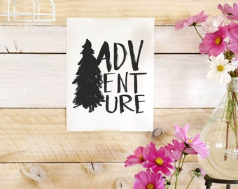 Adventure- Beautifully textured cotton canvas art print. Order as an 8x10 11x14 or 16x20 size.
