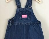 80s Osh Kosh Blue Jean Dress Size 3t 4t
